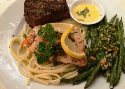 Filet and Grouper Piccata