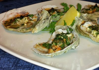 Grilled Oysters with Garlic and Pastis Butter