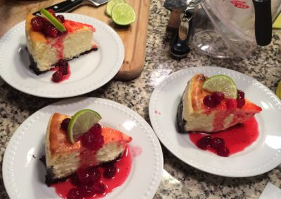 Key Lime Cranberry Cheesecake