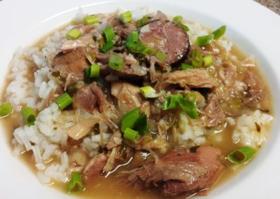 Roasted Duck Andouille Gumbo